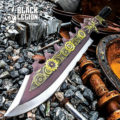 "24"" Stainless Steel Full Tang Tactical Fantasy Sword with Sheath Brand New"
