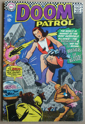 DOOM PATROL #112 with 'BROTHERS IN BLOOD', SILVER AGE 1967.