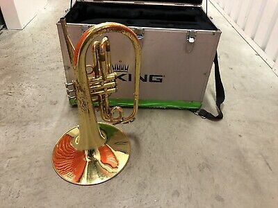 King 'Ultimate' Pro Marching Mellophone   Model 1121 With Case #4