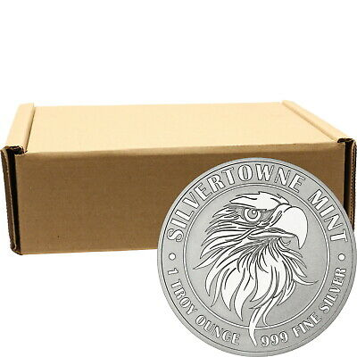NEW! SilverTowne Mint Mighty Eagle 1oz .999 Silver Medallion 500pc
