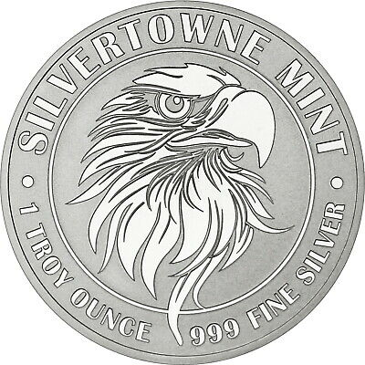NEW! SilverTowne Mint Mighty Eagle 1oz .999 Silver Medallion