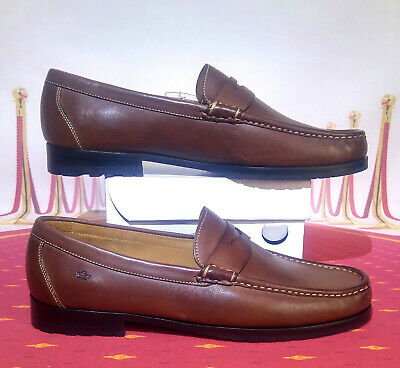 356516a1e42 PETER MILLAR Dress penny Loafer Moccasin brown leather Men s shoes size 11  NEW