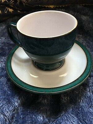 Stunningly Beautiful Denby Greenwich Breakfast Cup And Saucer