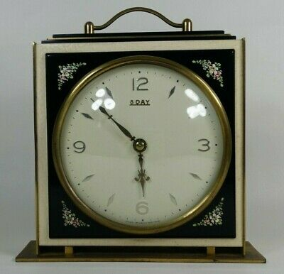 Vintage Art Deco Smiths Desk / Mantel Clock - 8 Day Wind-Up Mechanism