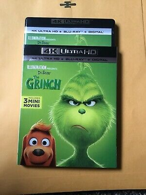 The Grinch 4K Ultra HD Blu-Ray With Slipcover
