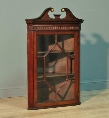 Attractive Very Small Antique Victorian Mahogany Glazed Corner Display Cabinet