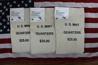 2019 P,D,S Mint Sealed Bags - One Each - ATB Lowell National Park - 300 Quarters