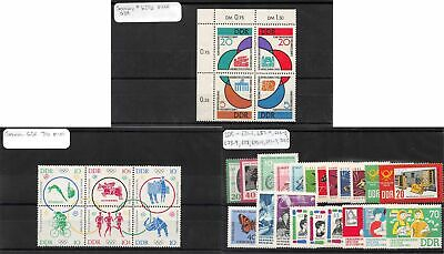 Lot of 62 Germany DDR MNH Mint Never Hinged Stamps Range 620a - 744 #141471 X R