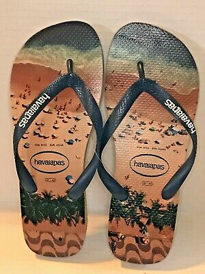 694237869eec Havaianas Men s Hype Rubber Flip Flop Sandals Navy Rose Beige 9 10 Beach