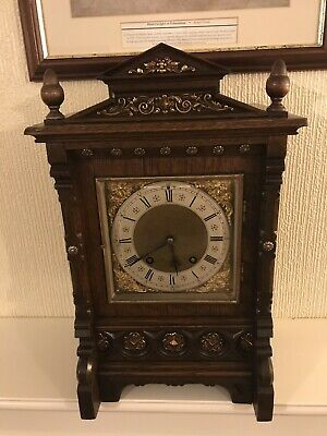Stunning Oak Cased Lenzkirch Ting Tang Bracket Clock Fully Restored 5 Digits