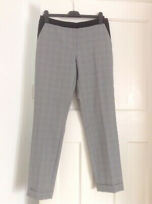 7f60536217 Primark Atmosphere Check Trousers Size 10 Turn Up Hems Formal Office Work