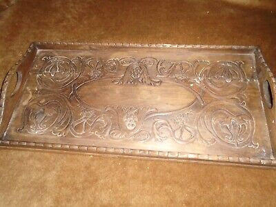 Vintage Carved Wooden Tray