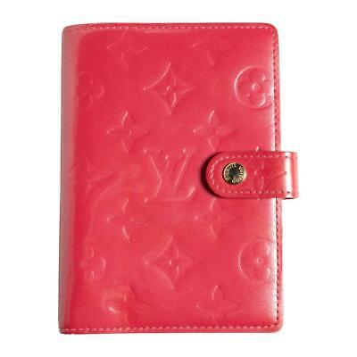 Authentic Louis Vuitton Monogram Vernis Agenda PM Framboise Pink R2101F