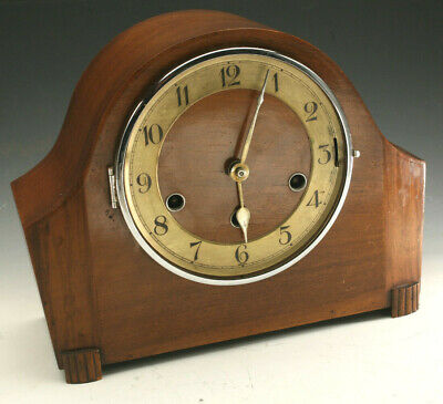 Antique German Kienzle Westminster Mantle Clock Art Deco Beautiful!!!