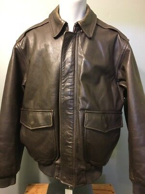 8e4ffa6b195 Vtg 40s WWII A-2 Style LL Bean Leather Pilots Flight Jacket Mens L Bomber