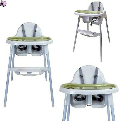 2In1 Baby Highchair Feeding Seat High Chair Adjustable Footrest Removable Tray