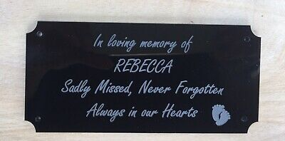 Acrylic Personalised Memorial Remembrance Plaque Grave Marker