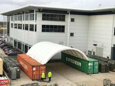 40ft Container Canopy 8.7m Wide | White PVC Canopy | Heavy Duty Steel Britcover