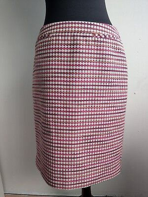 ed23ba1593 Halogen Nordstrom Womens Skirt Midi Pencil Pink Yellow Pattern Size 4