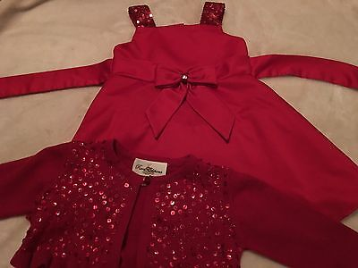 Infant Toddler Red Formal Dress Rare Editions Size 18 Months Christmas Holiday