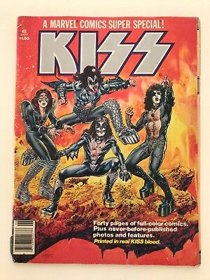 KISS 1977 - A Marvel Comics Super Special! Printed in real KISS Blood!