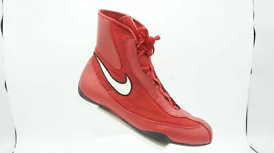 best sneakers 57915 5f097 Nike Machomai Mid Olympic Size 12 M Red High Top Boxing MMA Wrestling Mens  Shoes