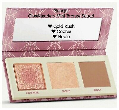 Benefit Palette❤Cheekleaders Bronze Squad: Gold Rush, Cookie, Hoola❤AUTHENTIC