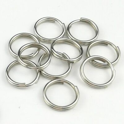 8~35MM Stainless Steel Split Key Ring Keychain Solid Round Wire Keyfob Keyrings