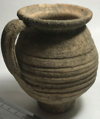 RARE Genuine ancient Roman ceramic wheel made clay coin bank vessel/Jug/Vase