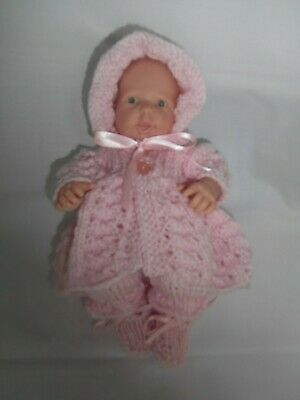 Hand Knitted dolls clothes (Four piece Winter set), fit 24cm (9.5-10 inch) doll