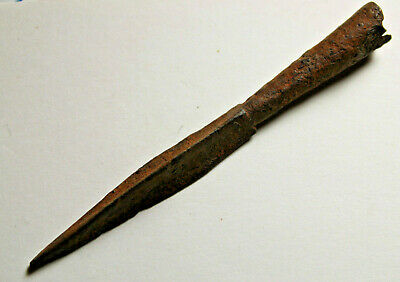 Rare Roman Javelin arrowhead quad blade tanged long range ballista bolt head