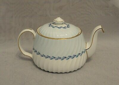 Minton China Cheviot Blue Tea Pot Teapot Coffee Pot with Lid Made In England
