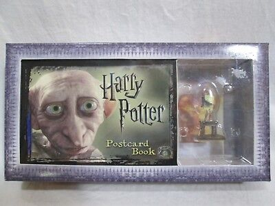 Harry Potter POSTCARD BOOK & DOBBY COLLICTIBLE FIGURINE New in Package