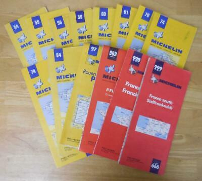 Michelin 1971-1974 Regional France Road Map Lot of 14! Excellent Condition