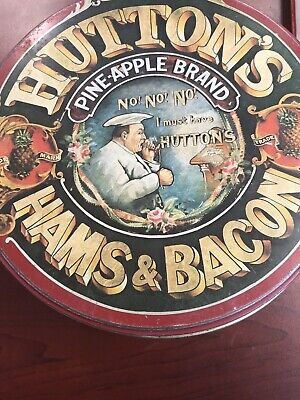 Huttons's Hams And Bacon Vintage Tin