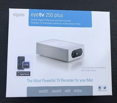 ELGATO EYETV 250 Plus Digital/Analog TV Receiver Video Converter MAC Apple  Media
