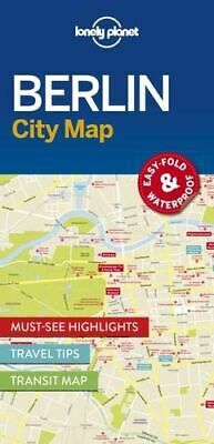 NEW Berlin City Map By Lonely Planet Folded Sheet Map Free Shipping