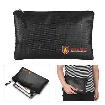 Cash Passport Laptop Lipo Battery Safe Waterproof Bags Fireproof Document Bag Extreme Armor Safety Storage Money Non-Itchy Silicone Coated Fiberglass w//Zipper Extra Security