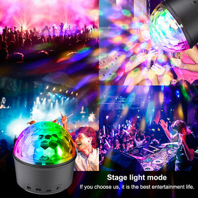 AU Sound Active RGB LED Stage Light Crystal Ball Disco Club DJ Party with Remote