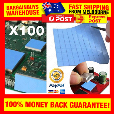 100pcs Thermal Pad GPU CPU Heatsink Cooling Conductive Silicone Pads 10x10x1mm