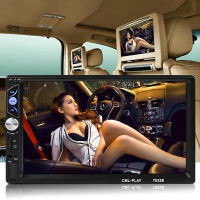 """7"""" Double 2Din Bluetooth Car Stereo MP5 Player FM Radio with Remote Control #OV"""