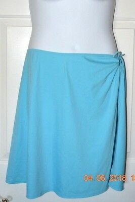 b17541d44d Lands End Blue Swim Skirt Coverup Size 14 tie closure can be used as top as