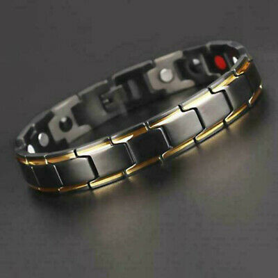 USA Magic Therapeutic Energy Healing Bracelet Stainless Steel Magnetic Bracelet