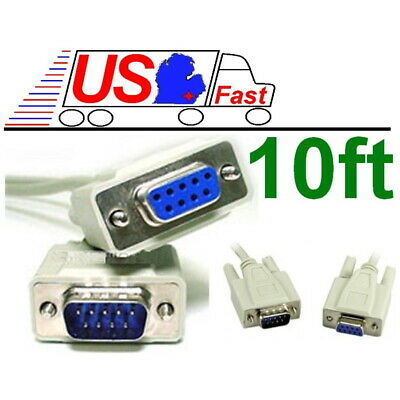 3-50ft DB25 Serial Printer Modem Extension Cable Cord 28AWG Male Female MF RS232