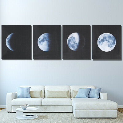 4Pcs 40x50cm Canvas Prints Wall Art Painting Pictures Home Office Abstract Moon