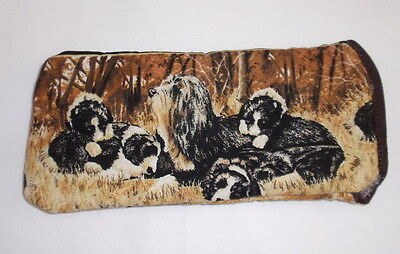 BEARDED COLLIE GLASSES CASE - cotton- ideal small gift