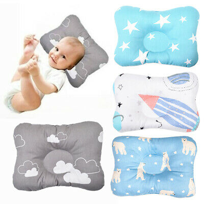 Infant Newborn Prevent Flat Neck Syndrome Support Square Pillow Cotton