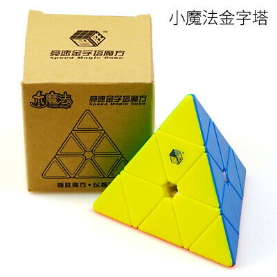 YuXin Little Magic  pyramid magic cube 3x3 Twist Puzzle Stickerless Toy Gift
