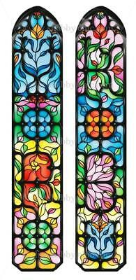 Furniture Slide Decal Vintage Image Transfer Stained Glass Window Chic Antique