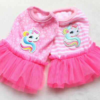 Small Milk Dog Clothes Summer Dress Lovely Puppy Skirt Pets Apparel Costume